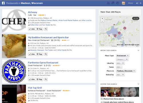 A general search using Facebook's Graph Search